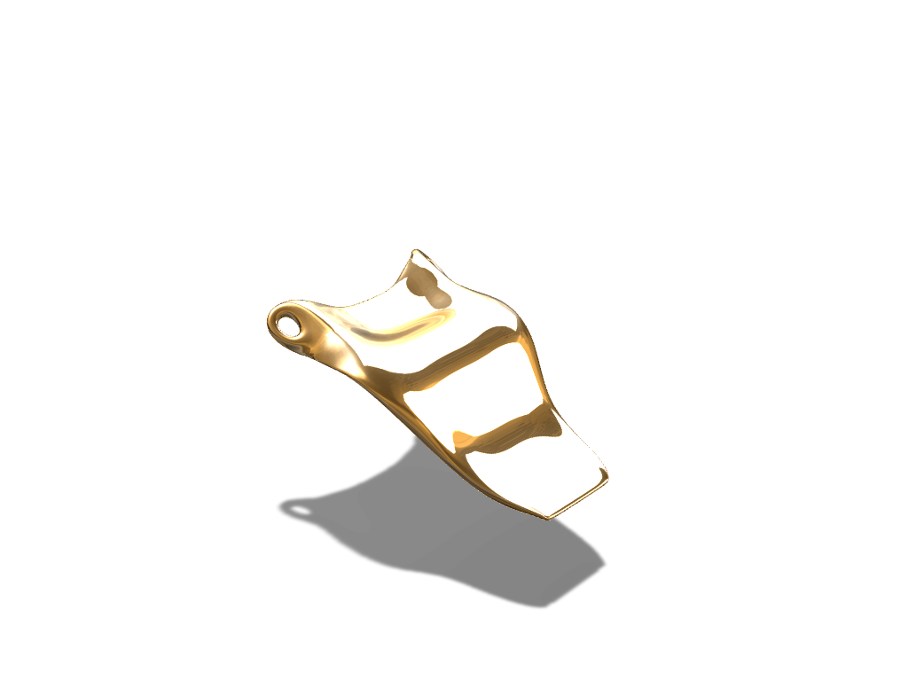 Wave pendant - 3D design by federicotonini Aug 24, 2017