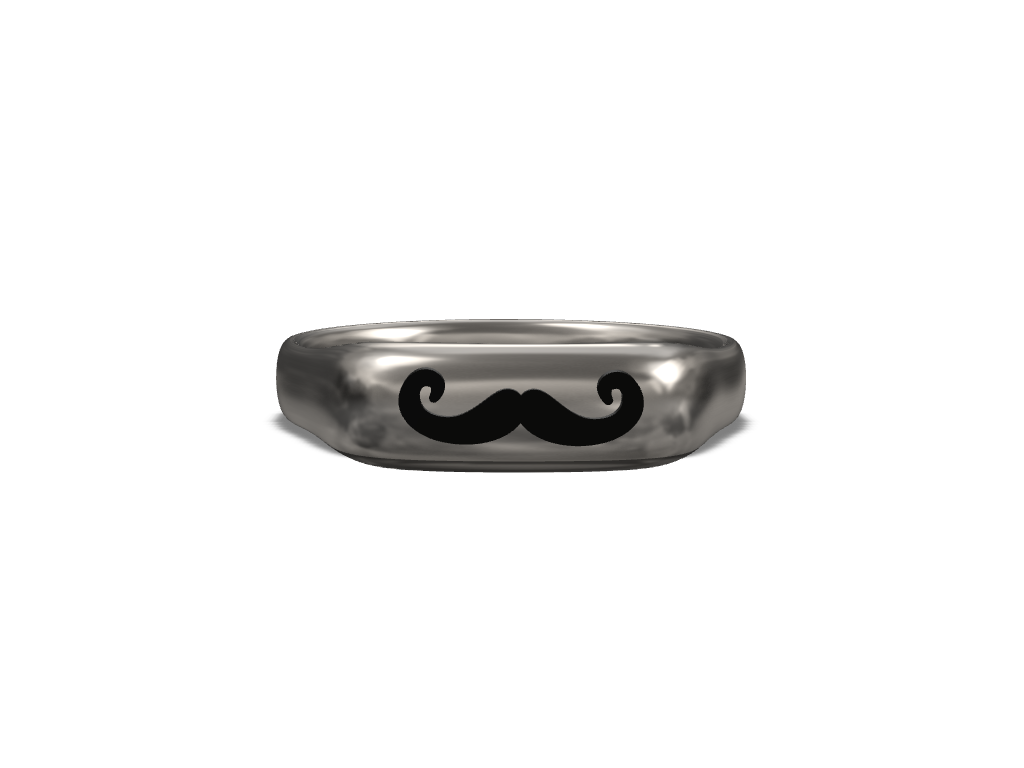 Hipster Mustache Bling  - 3D design by z_farley on Aug 23, 2017