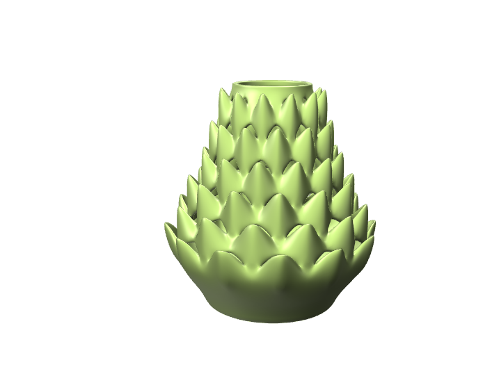 Kima Vase - 3D design by Daniel Abalde on Sep 13, 2017
