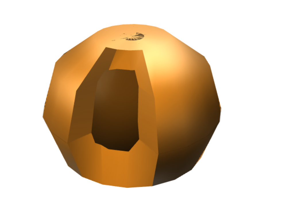 Gold Ball - 3D design by Ameena Naweed Sep 16, 2017