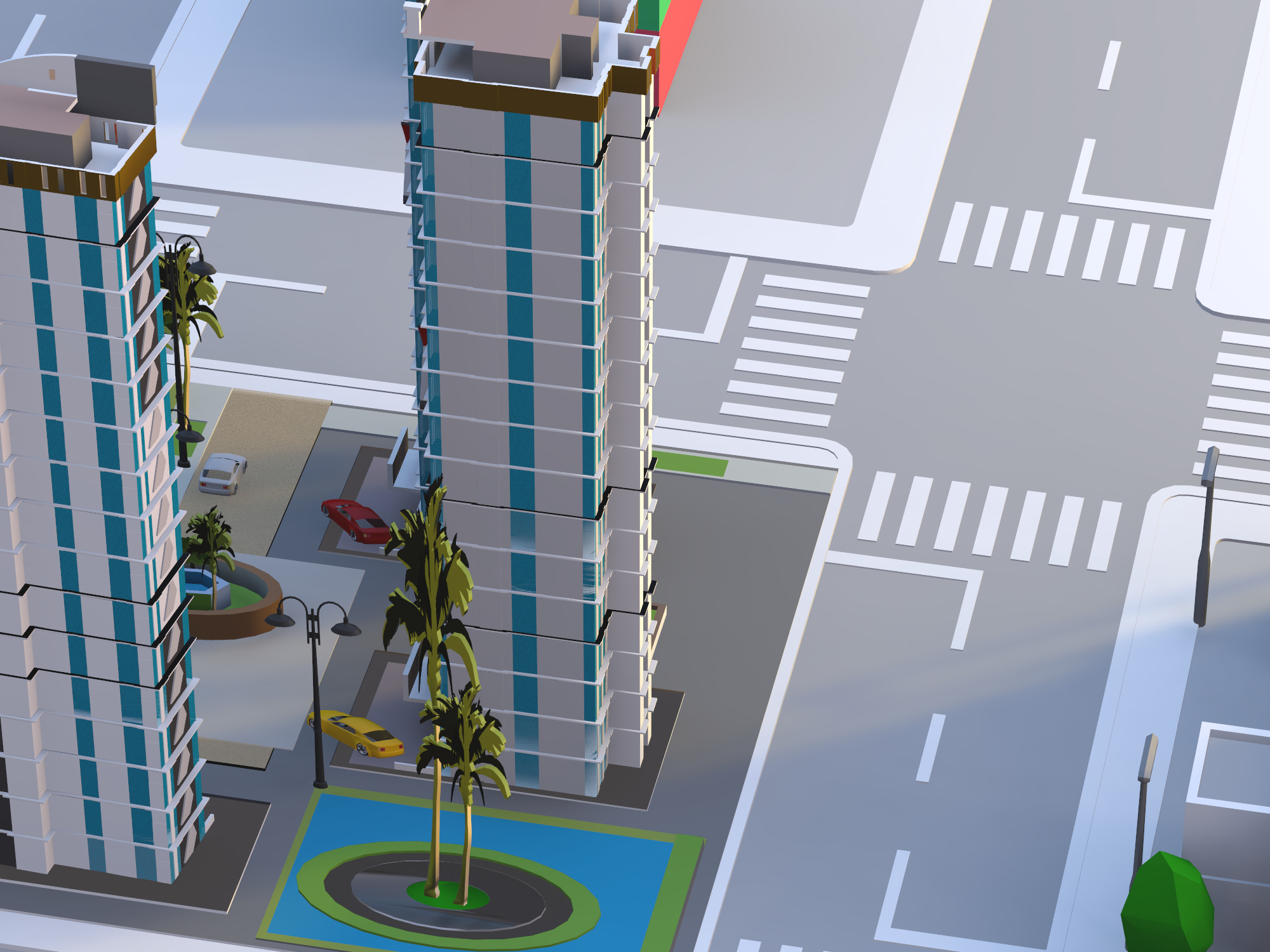 Build a city - drag and drop objects (copy) - 3D design by Adnane