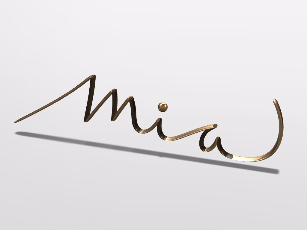 Mia is my name - 3D design by Mirka Biel Aug 4, 2016