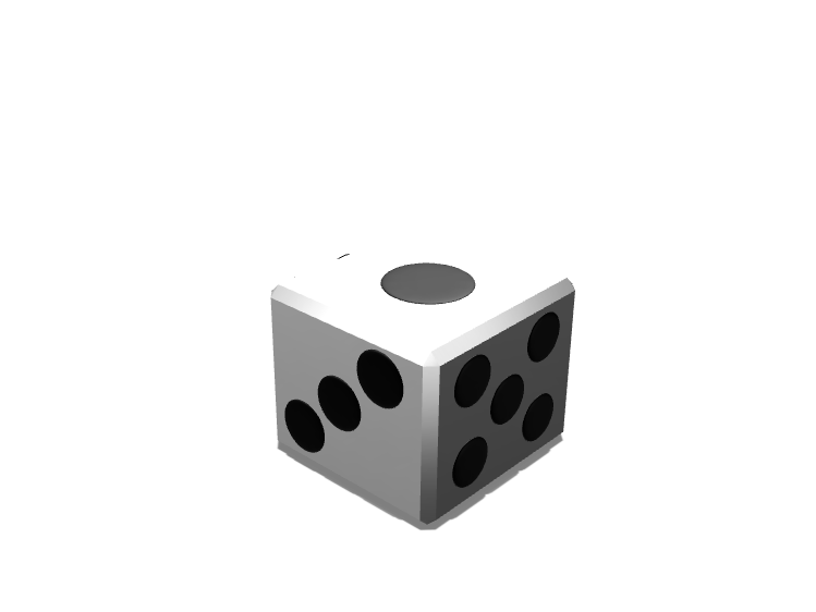 Dice V.2 - 3D design by Dylan Manion on Oct 25, 2017