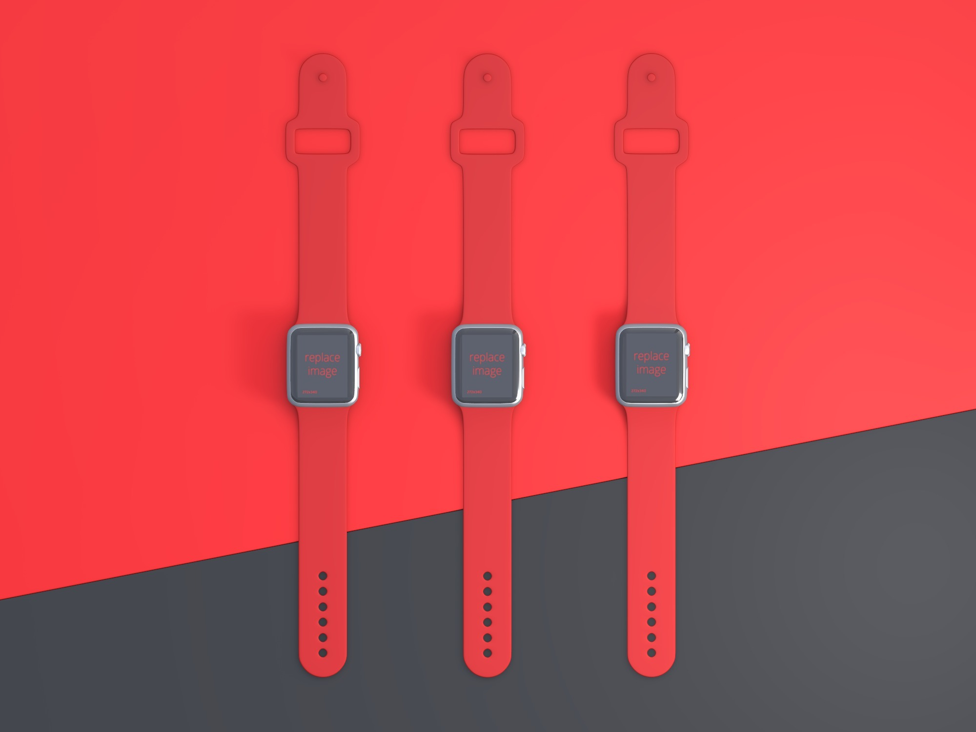 Minimalistic smartwatch mockup - replace images - 3D design by Vectary templates on Jul 23, 2018