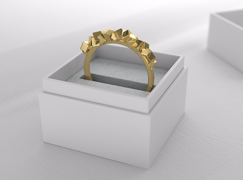 Stone ring - 3D design by VECTARY Apr 20, 2017