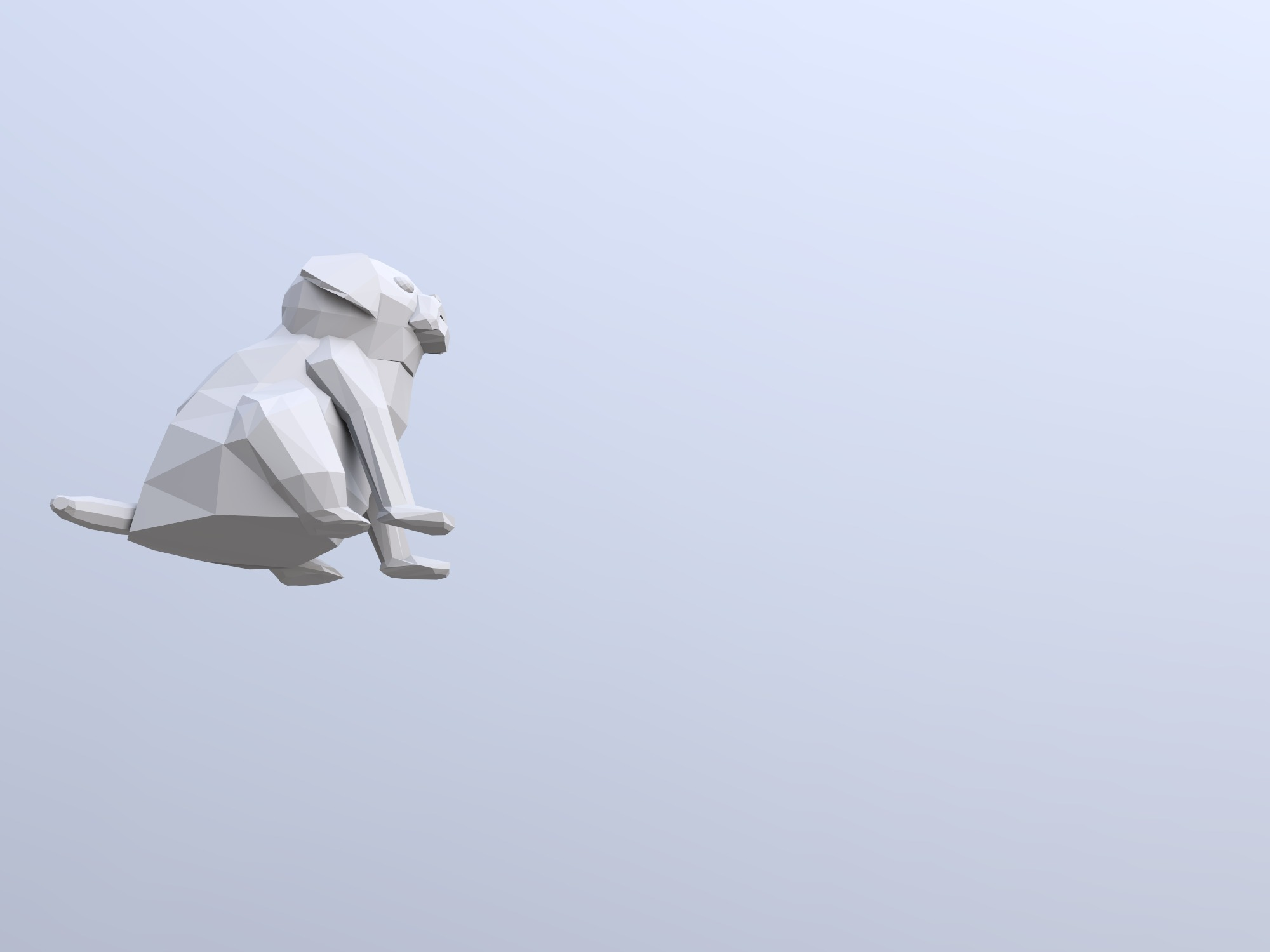pug (copy) - 3D design by Carla Piñeiros Costales on Jan 17, 2019