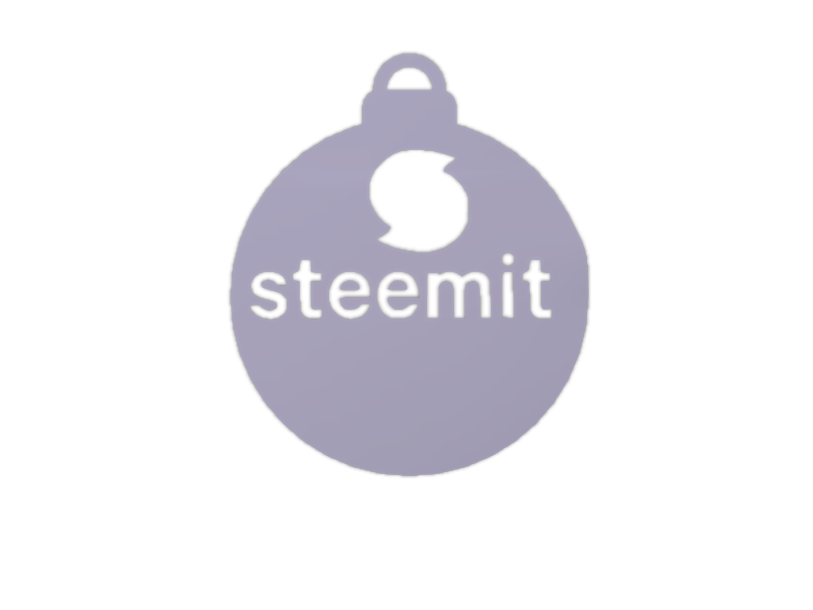 Steemit christmas deco 2 - 3D design by Peter Bock Nov 27, 2017