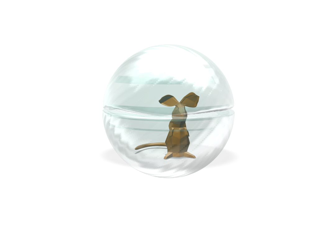 Low Poly mouse in ball - 3D design by jagadesh kumar May 10, 2018