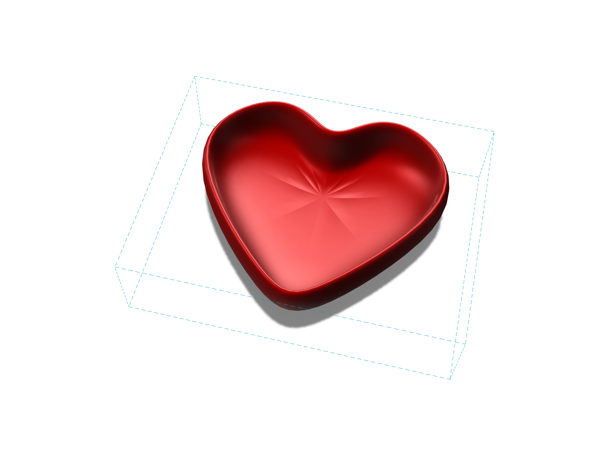 Heart bowl - 3D design by Ngan Vu Mar 3, 2018