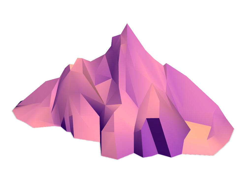 Mountains - 3D design by VECTARY Dec 13, 2016