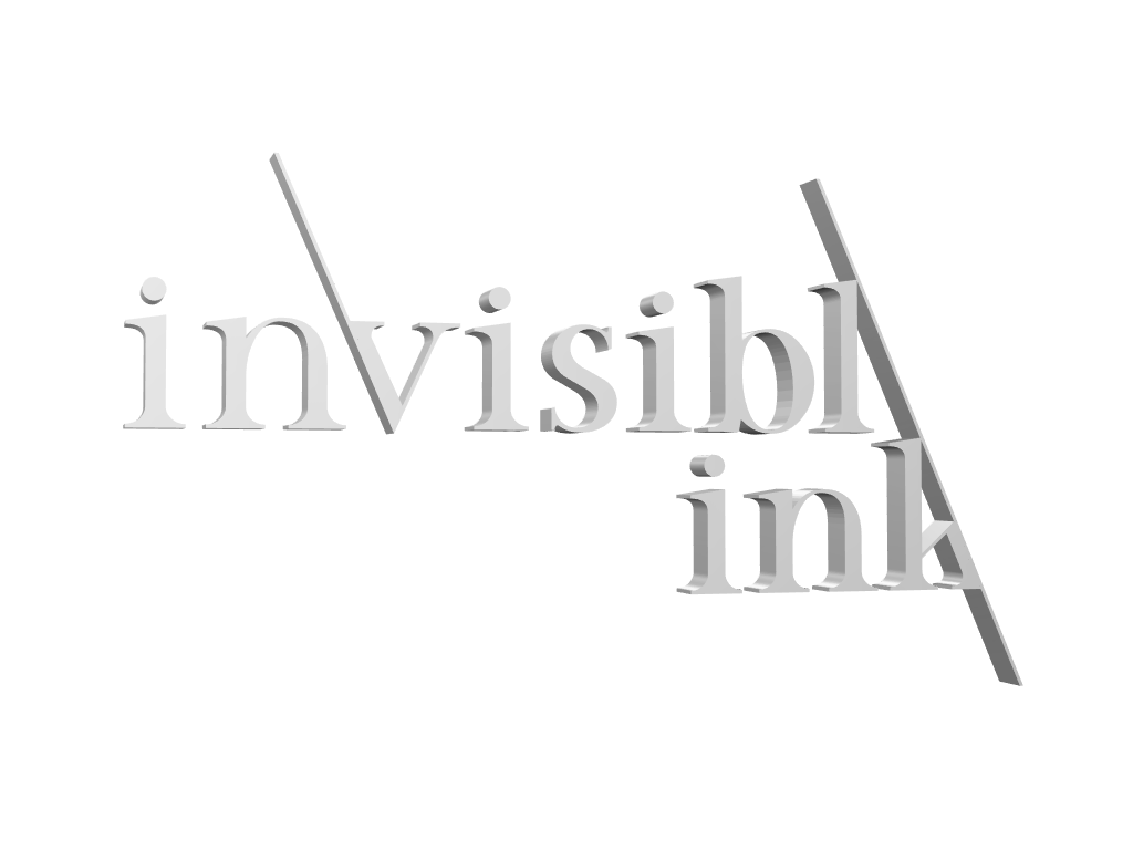 Invisible Ink Logo - 3D design by Kimay Pit Mar 22, 2018