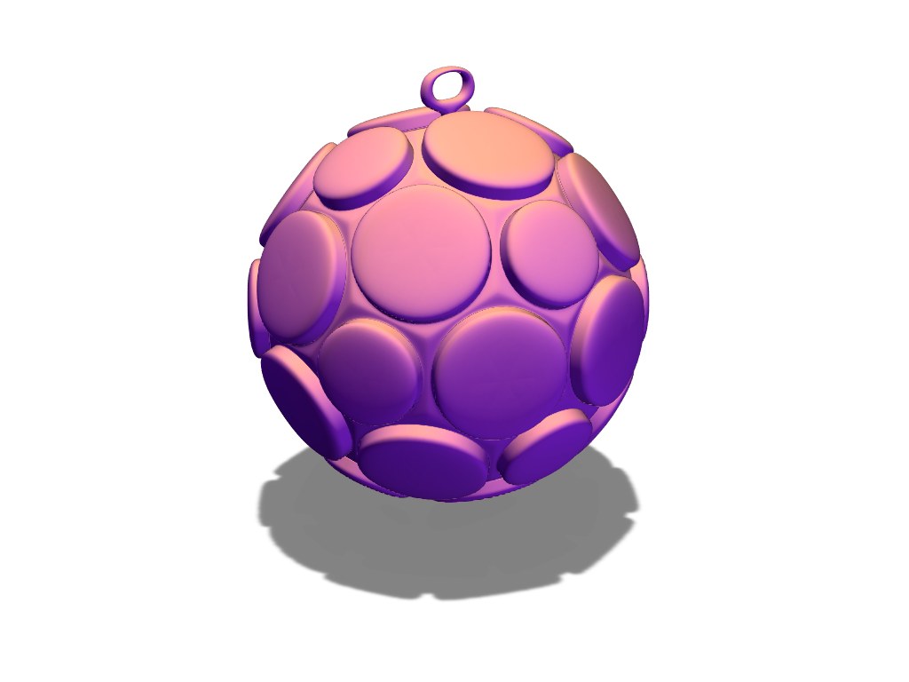 Christmas bauble - 3D design by sisane on Dec 19, 2017