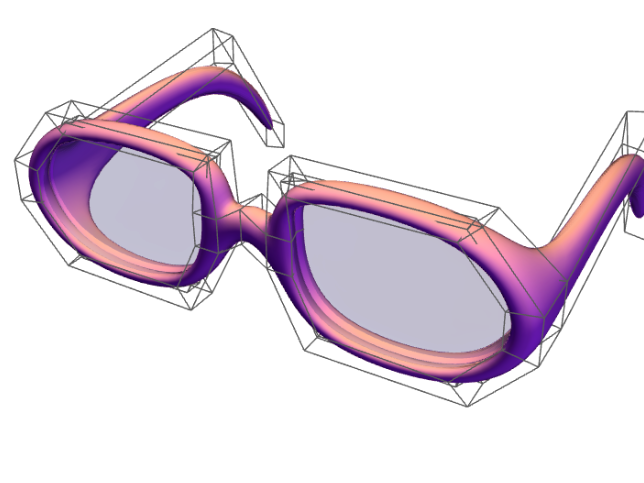Glasses - 3D design by Karolína Huttová on May 28, 2017