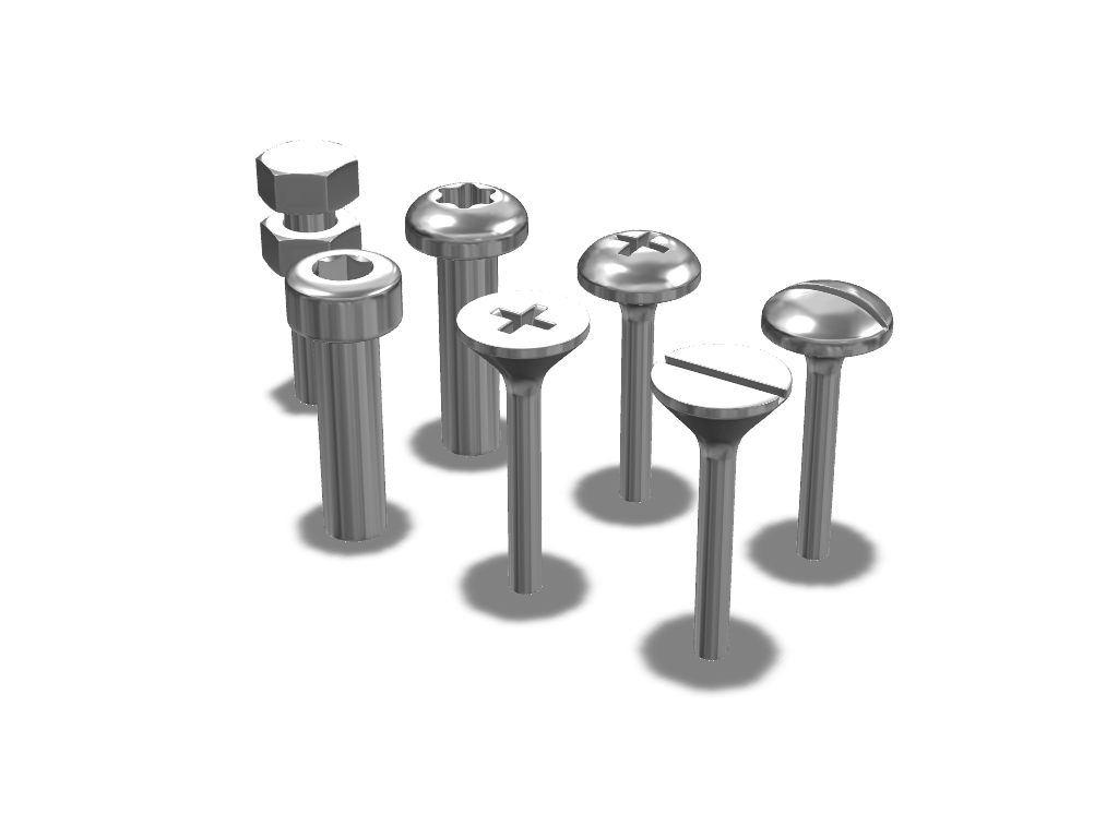 Screw Caps - 3D design by VECTARY Aug 1, 2016