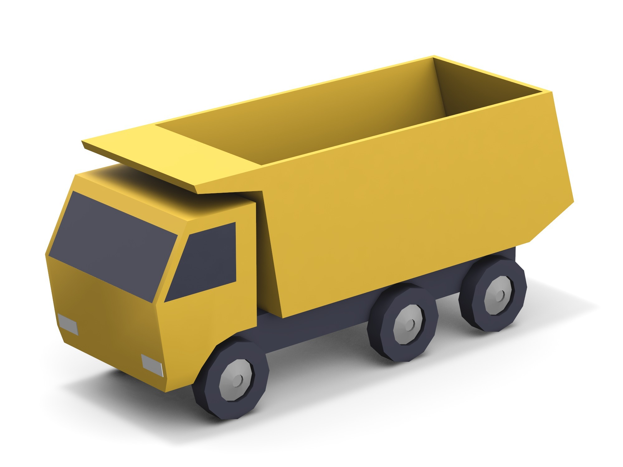 Dump truck - 3D design by assets Aug 17, 2018