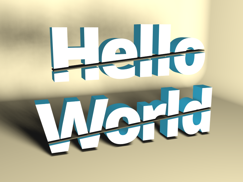 Cutted Hello World - 3D design by Milan Gladiš May 19, 2018