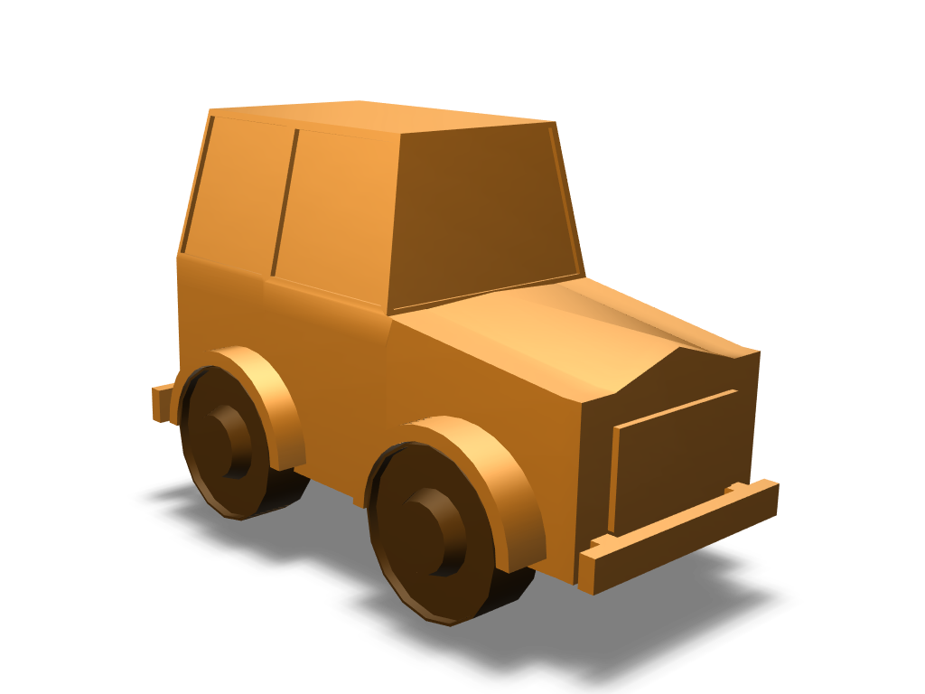 Wood toy car - 3D design by Rodrigo Castro Mar 4, 2018