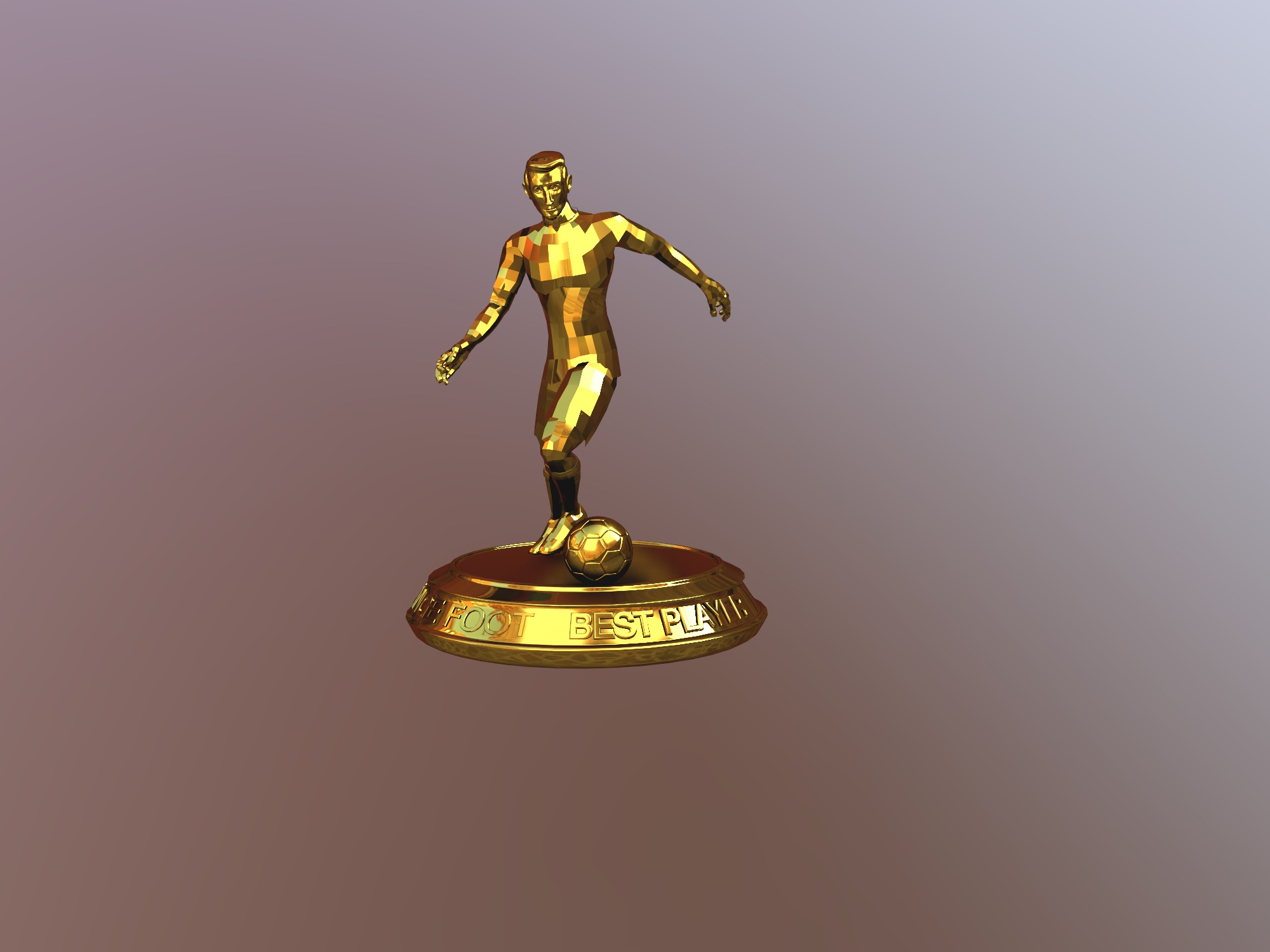 Orange Best Player Trophy - 3D design by Moussa Mohamed Amine on Dec 13, 2018