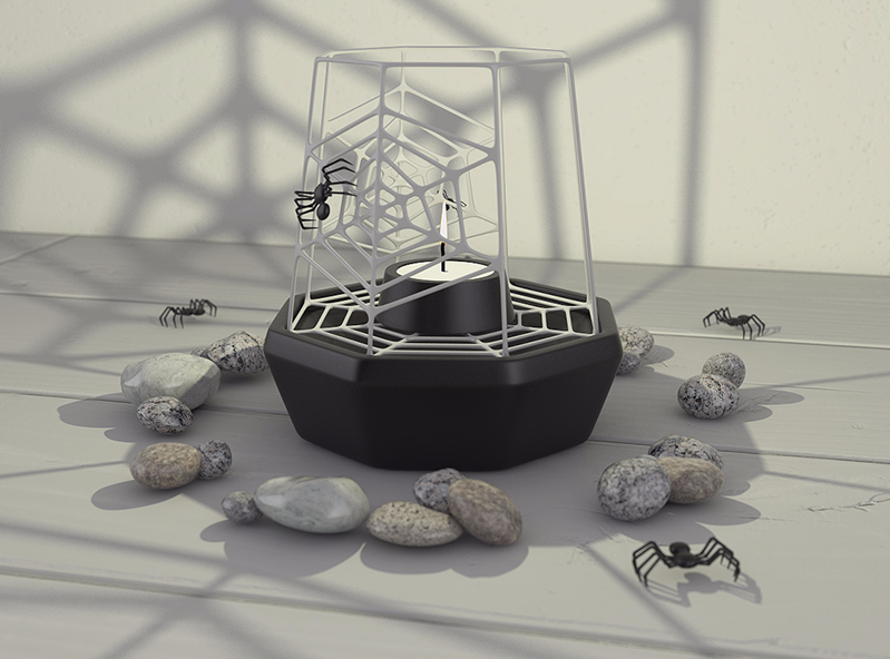 Spiderweb lantern - 3D design by VECTARY Oct 26, 2017