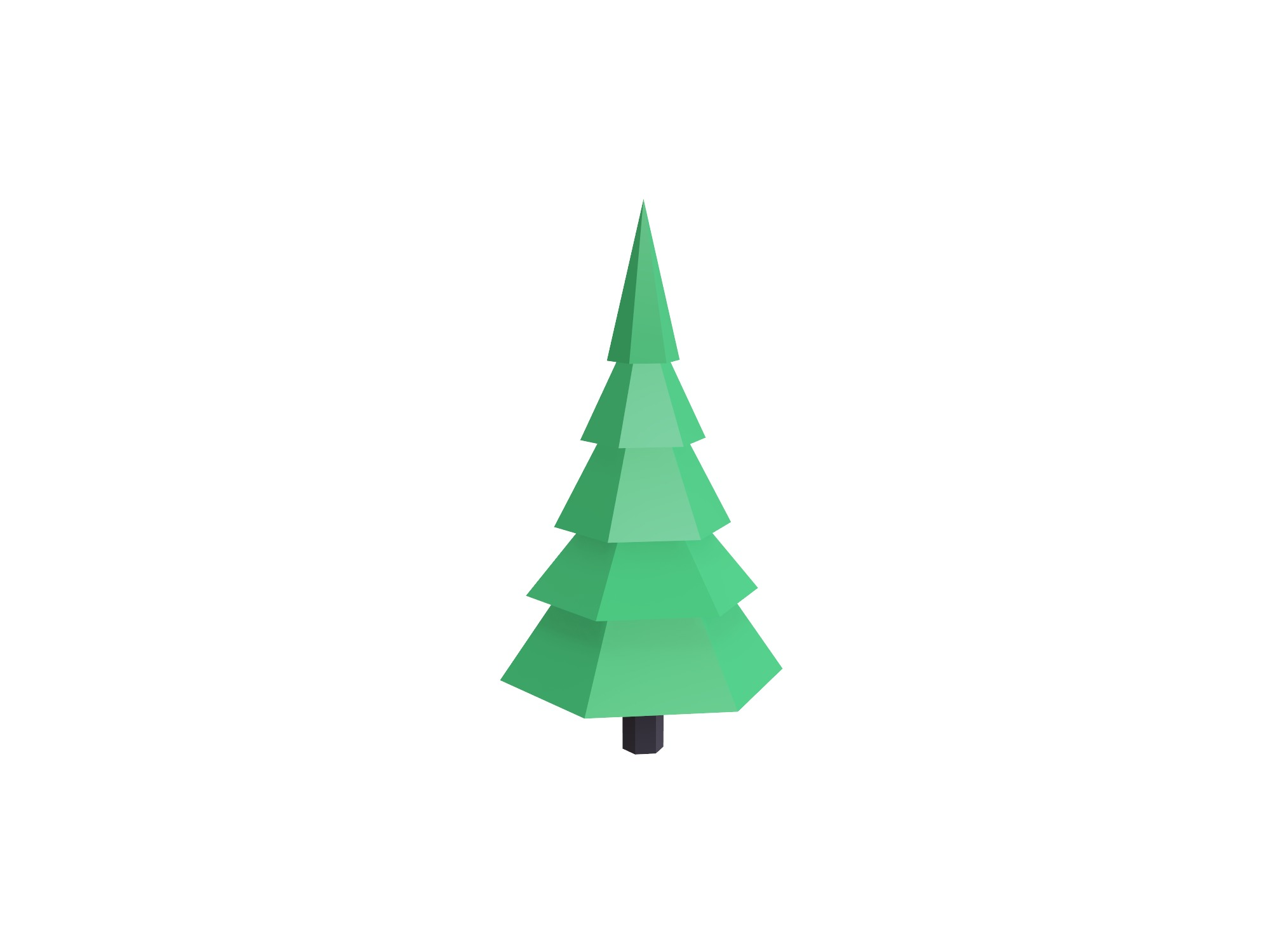 Low poly conifer tree - 3D design by Vectary assets Jun 3, 2018