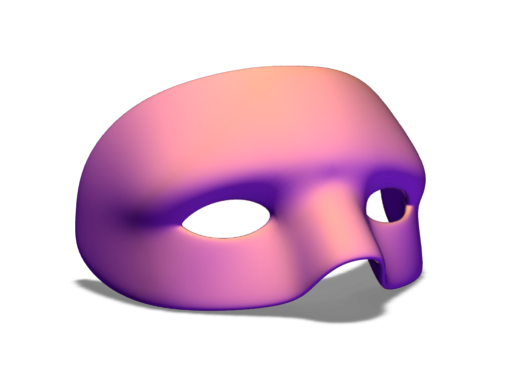 Halloween Mask Template - 3D design by VECTARY Oct 16, 2017