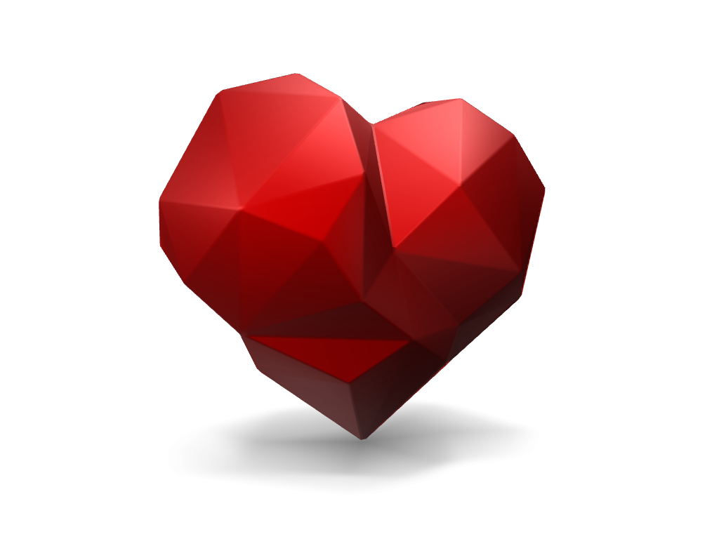 Low poly Love - 3D design by Andy Klement Feb 2, 2017