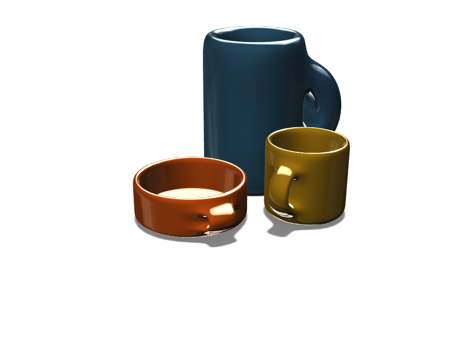 Mugs - 3D design by kherrmann21 on Nov 1, 2017