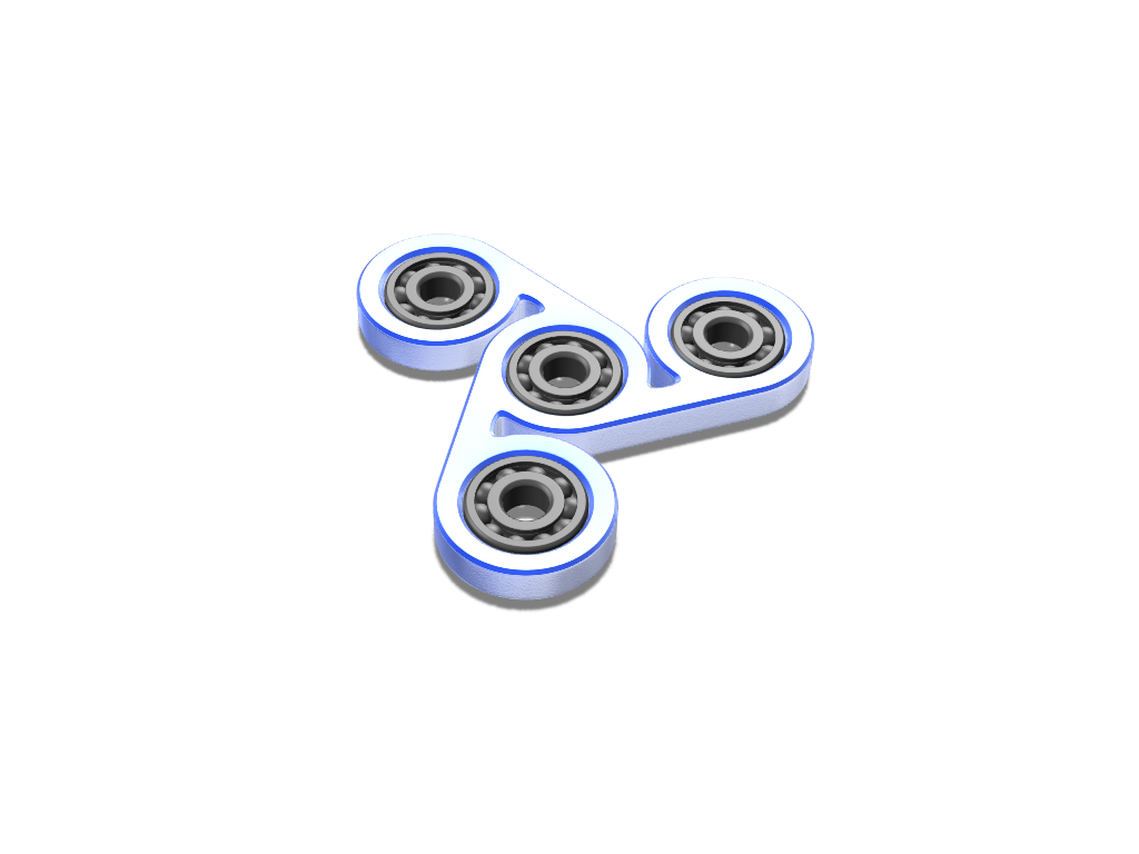 Fidget spinner - 3D design by Mr. BigBody on Mar 27, 2018