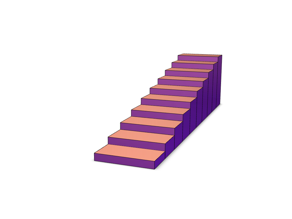 length stairs (1-10 mm) - 3D design by Ruben on Dec 14, 2017