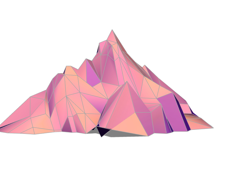 Mountain - 3D design by Neon Studio on May 25, 2018