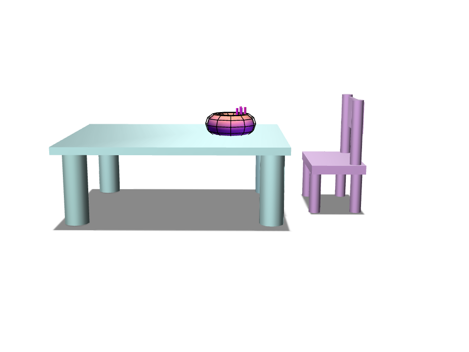 Melanie Table and chair - 3D design by mpimienta21 on Nov 8, 2017