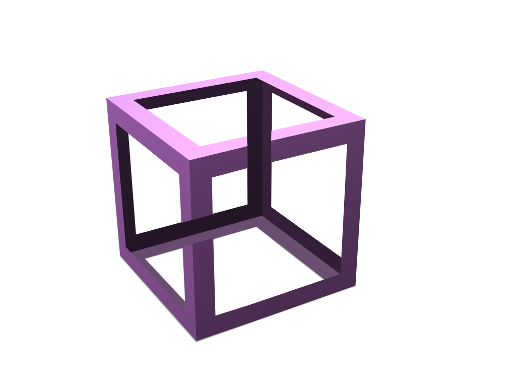 impossible figure cube - 3D design by pineapple_elza Mar 7, 2018
