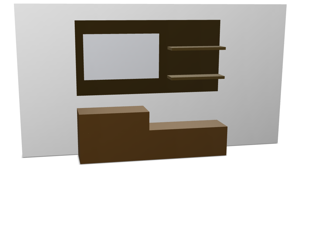TV Panel with shelves with wall - 3D design by jogainfarto on May 31, 2017