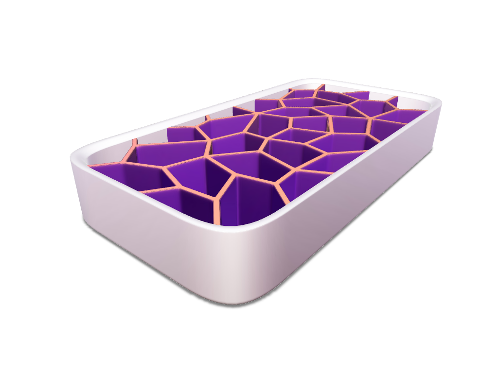 Voronoi Ice Cube Tray - 3D design by meshtush Aug 9, 2016