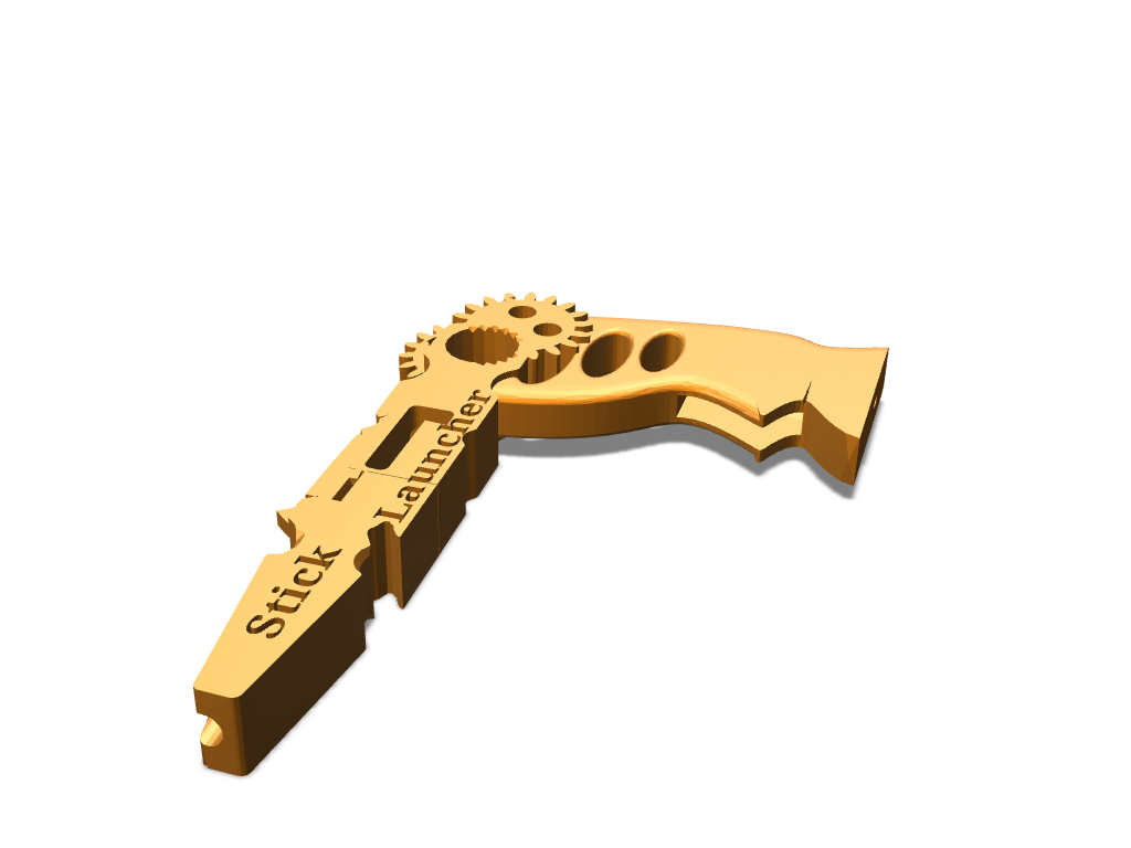 Stick launcher - 3D design by David Andrés on Nov 29, 2017