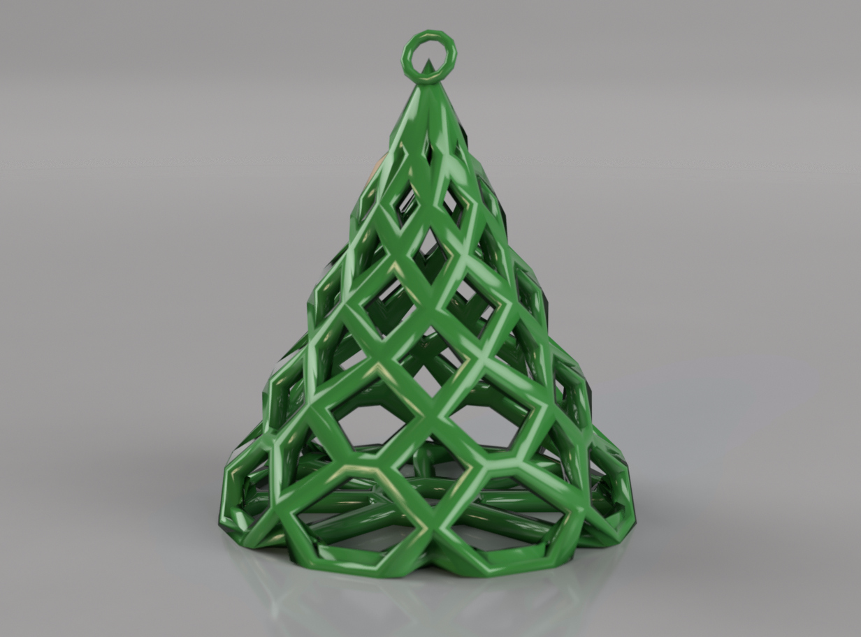 Modern Christmas Tree Ornament - 3D design by sandesh.meghnath on Nov 27, 2017