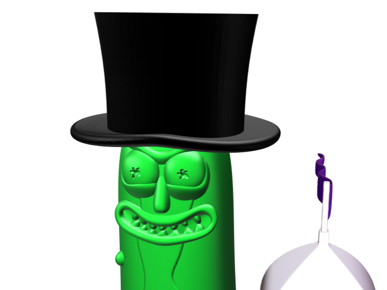 Im pickle riiiiiiiiiick - 3D design by Mr judía 666 on Feb 8, 2018