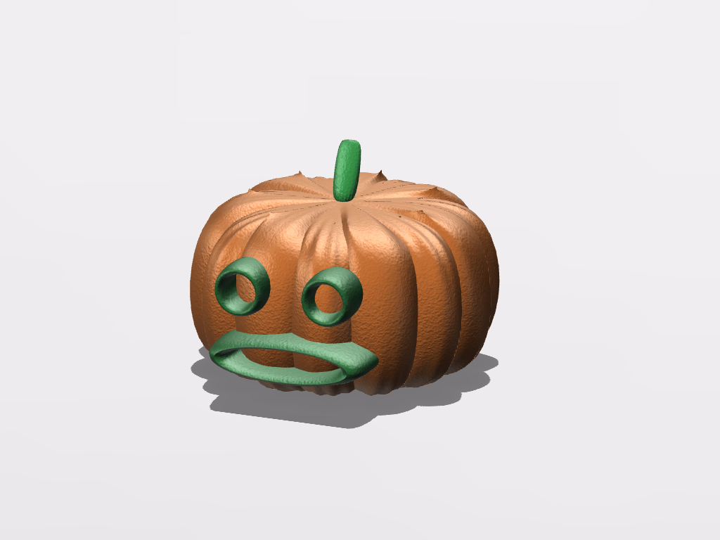 halloween pumpkin with vectary - 3D design by Guillaume B on Oct 20, 2016