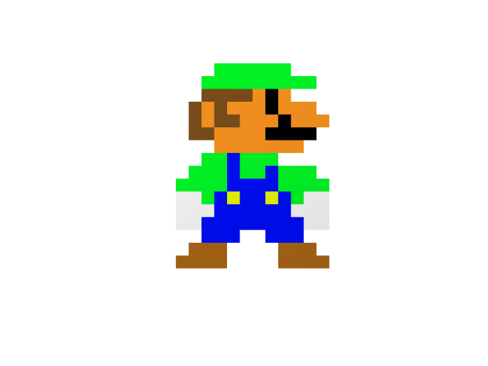 8-bit Luigi (flat) - 3D design by K.K. Studios on Jan 25, 2018