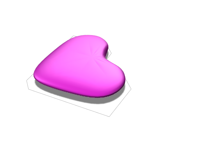 Pink heart  - 3D design by Luciana Oluvres Dec 18, 2017