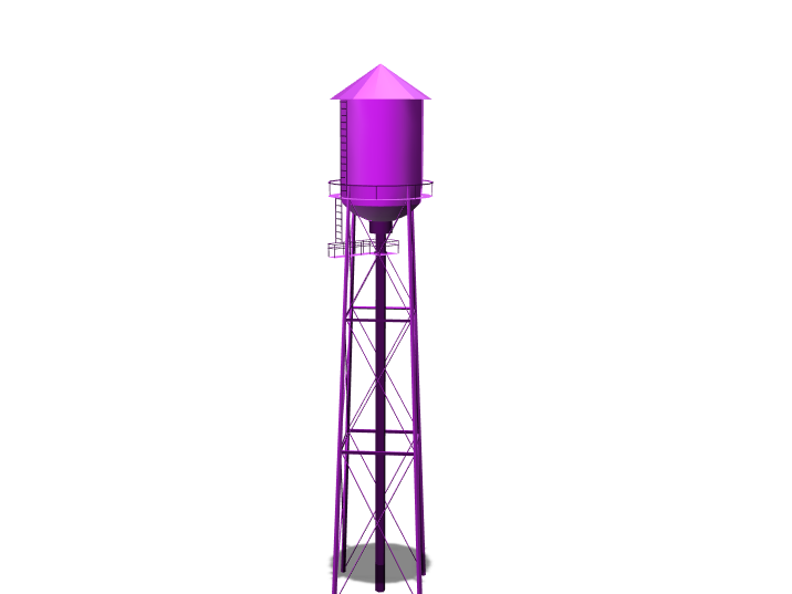 Watertower - 3D design by Sprajtak Hraje on Mar 21, 2018