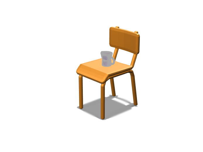 Jar&Chair - 3D design by Angel Agudo Guerrero Mar 4, 2018