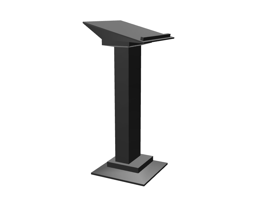 lectern #1 - 3D design by Andy Klement Jul 23, 2017