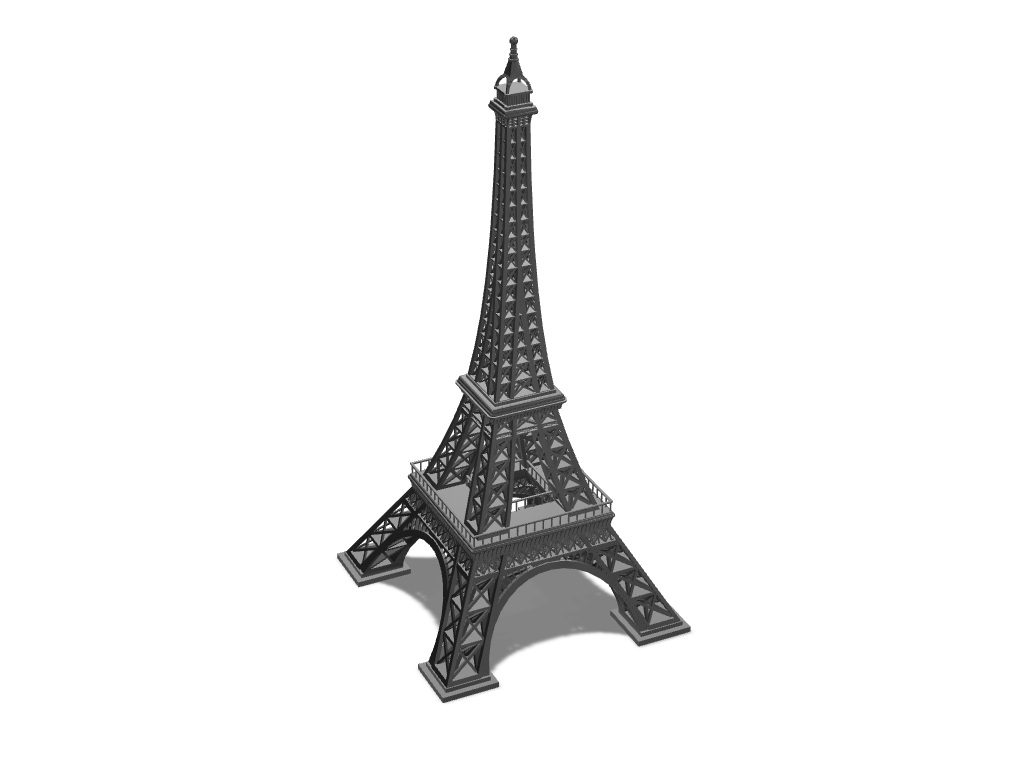 Eiffel tower - 3D design by Cookie Dough on Sep 23, 2017