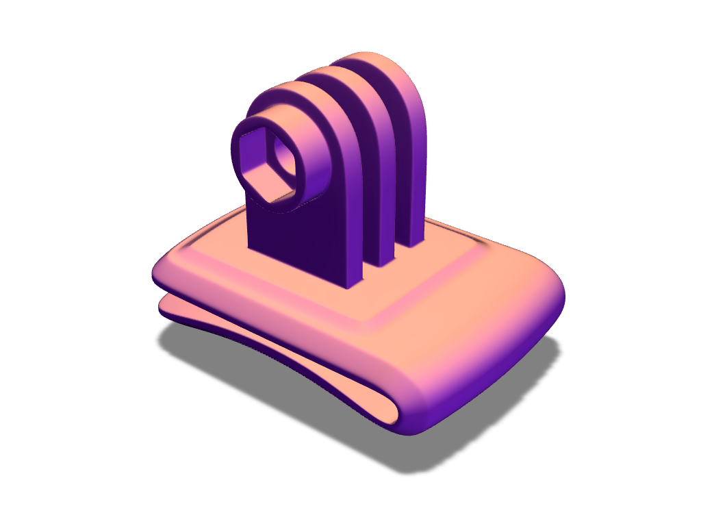GoPro clip mount - 3D design by Adrian Mar 16, 2017