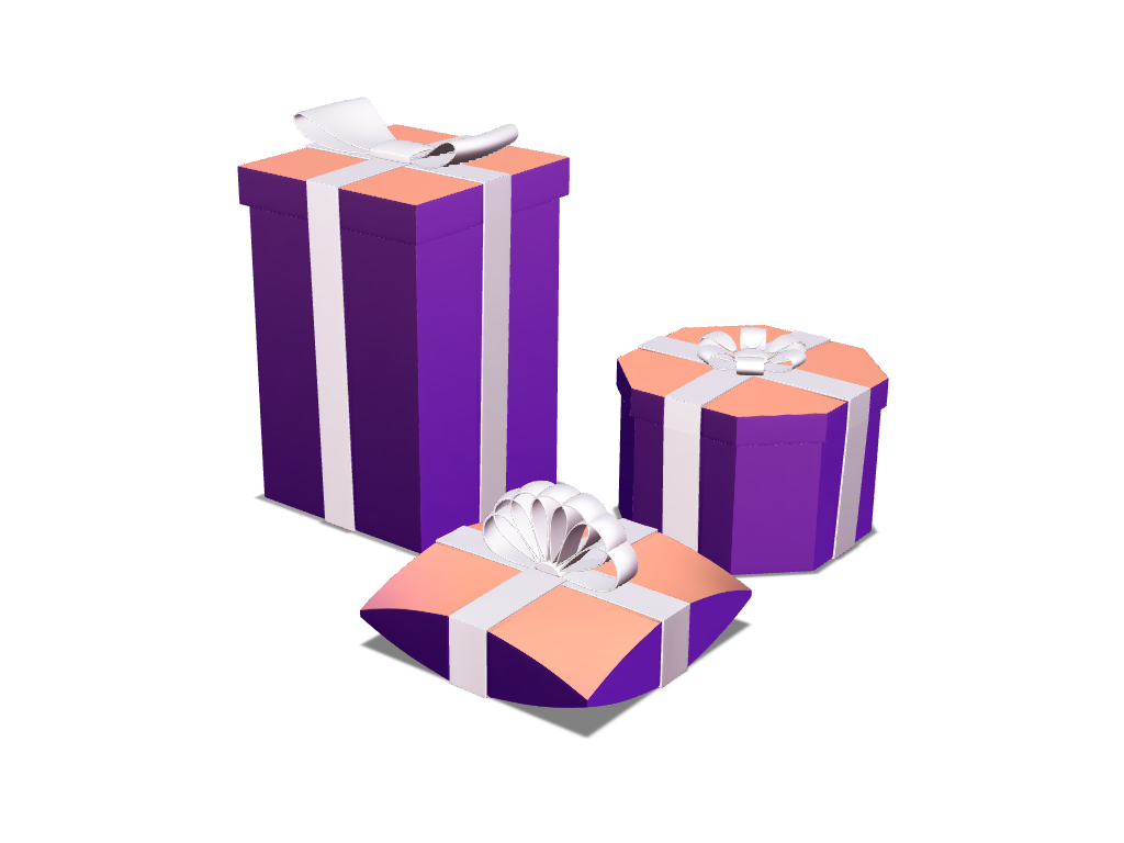 Gifts - 3D design by VECTARY Jan 4, 2018