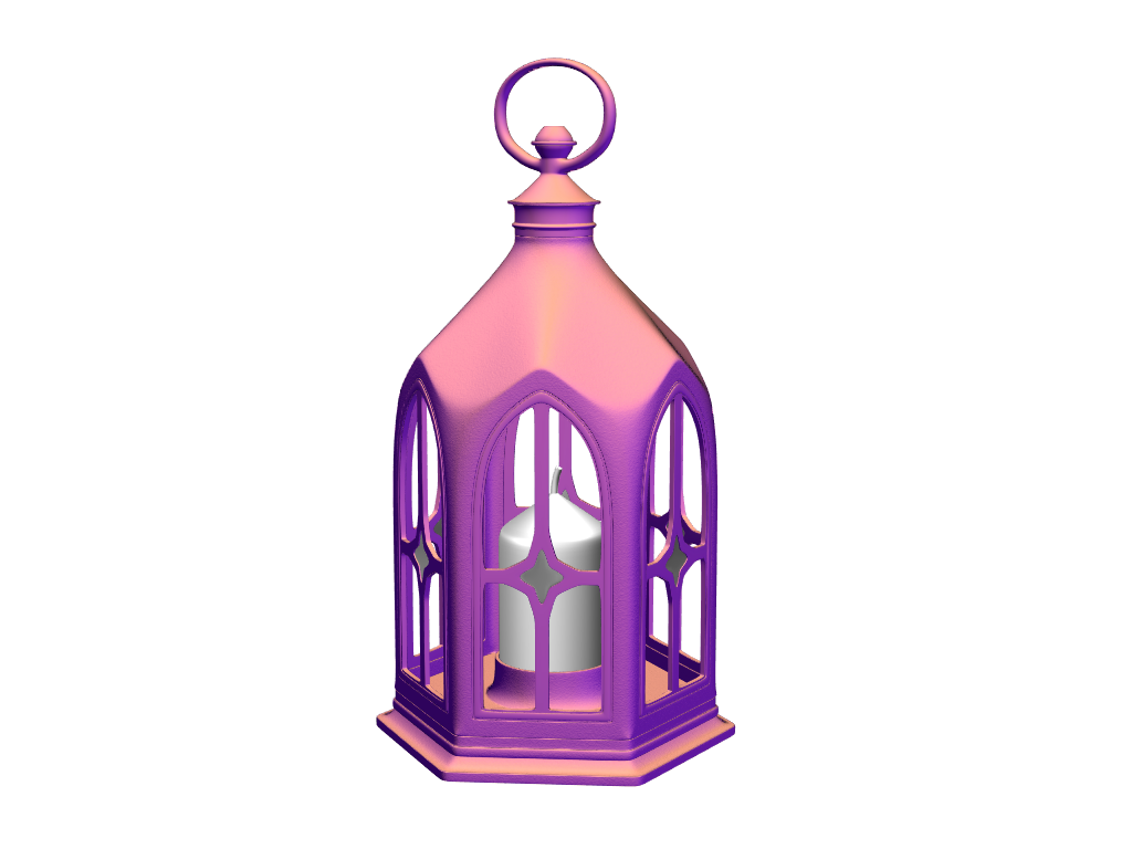 Christmas lantern - 3D design by VECTARY Dec 7, 2017