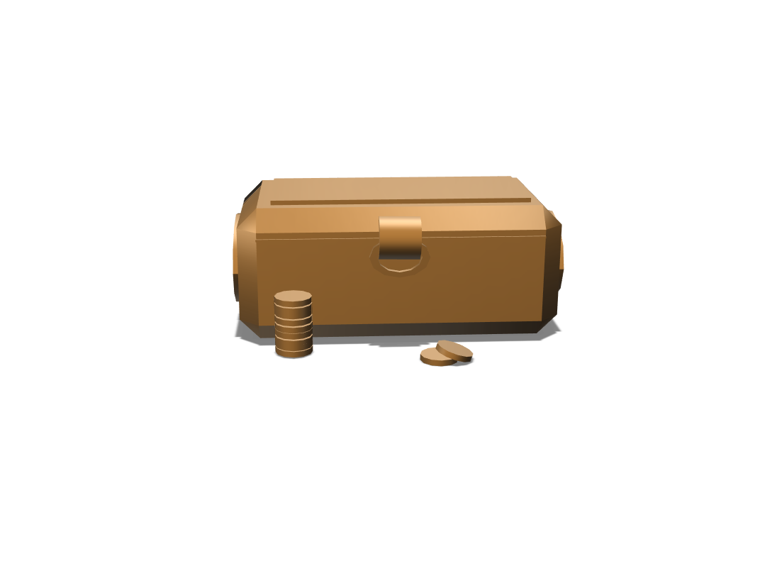 Treasure Chest - 3D design by farfalleus on Feb 7, 2018