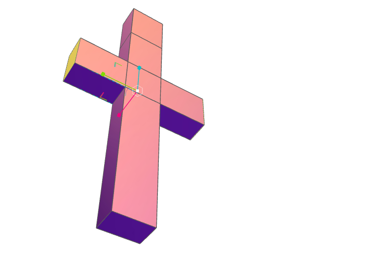 cross - 3D design by Jae-Anne Bell May 5, 2017