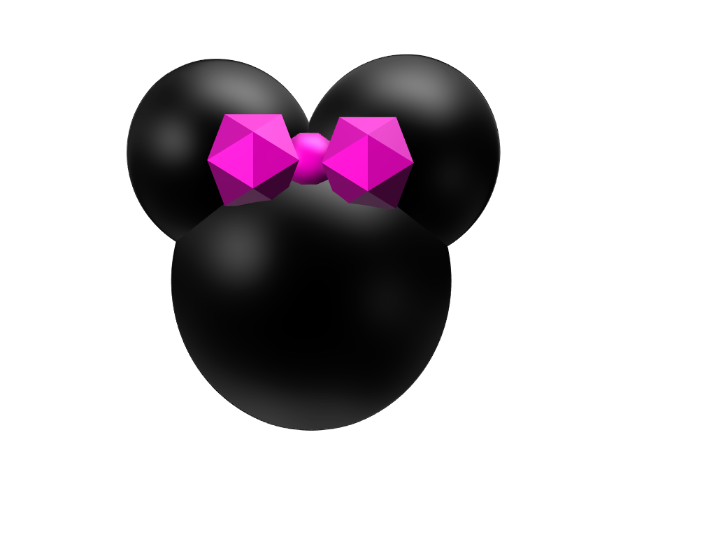 minnie mouse - 3D design by mikaylaroofner May 18, 2018